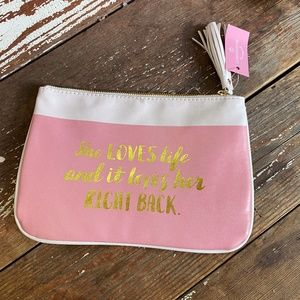 Anthropologie Pink Cosmetic Bag